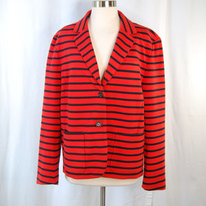 {GAP} The Academy Blazer Red Black Stripe Size 20